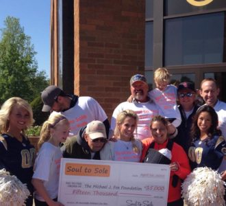 Team Gateway with large check